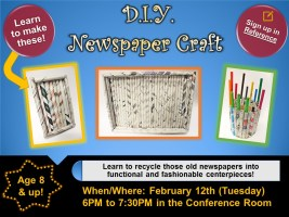 D.I.Y. Craft Class @ Harlingen Public Library - Auditorium