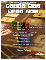 TableTop Game Day @ Harlingen Public Library - Auditorium