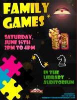 Family Games @ Harlingen Public Library - Auditorium