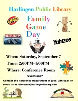 Family Games @ Harlingen Public Library - Conference Room