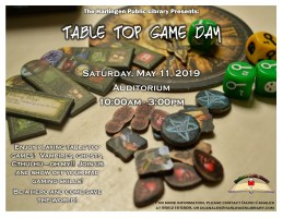 Table Top Day @ Harlingen Public Library - Auditorium