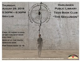 Teen Book Club @ Harlingen Public Library- Idea Lab