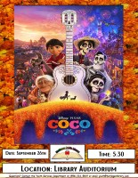 Movie Night- COCO @ Harlingen Public Library- Library Auditorium