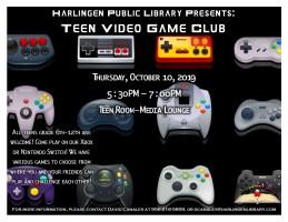 Teen Video Game Club @ Harlingen Public Library- Teen Room