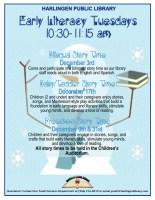 Early Literacy Mornings @ Harlingen Public Library Children's Auditorium
