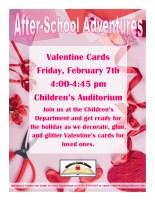 Valentine's Cards After-School Adventures @ Children's Auditorium
