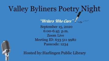 Valley Byliners Bilingual Poetry Night (Zoom)