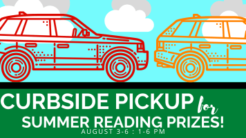 Summer Reading Prizes Curbside Pick-Up 1PM-6PM @ Harlingen Public Library Circle Drive