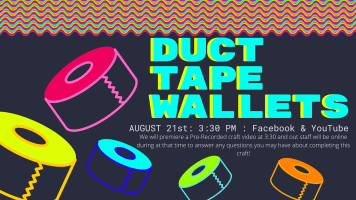 Friday Afternoon Fun: Duct Tape Wallets @ Harlingen Public Library Website & Facebook page