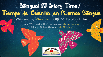 Bilingual PJ Story Time @ Harlingen Public Library Facebook Page