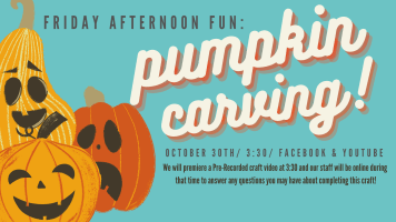 Friday Afternoon Fun: Pumpkin Carving @ Harlingen Public Library Facebook Page