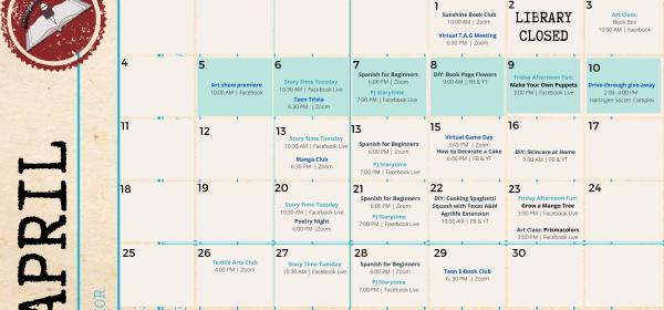 April Program Calendar