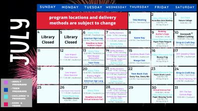 July Program Calendar