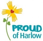 Proud of Harlow logo