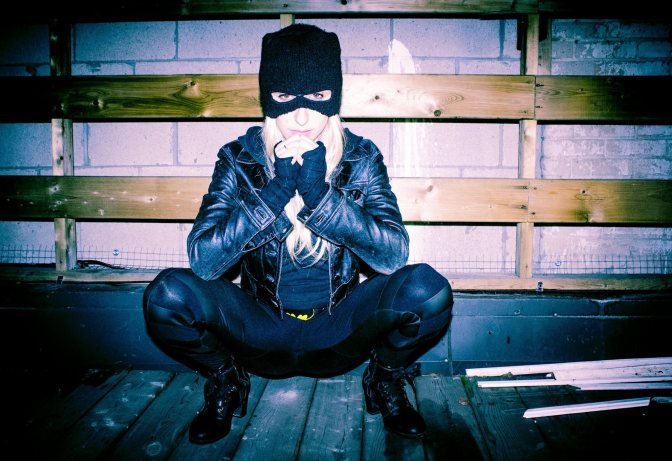 Batgirl rubber & mesh pants