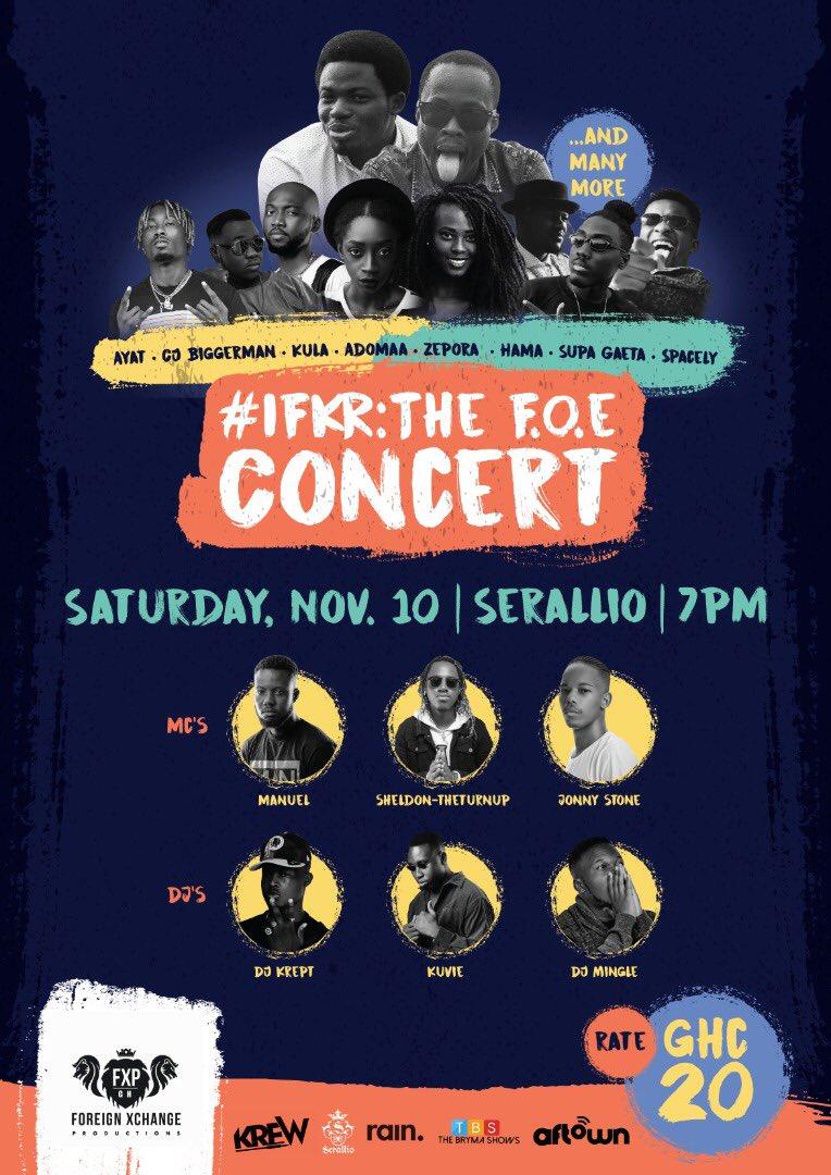 IFKR hosts F.O.E Concert