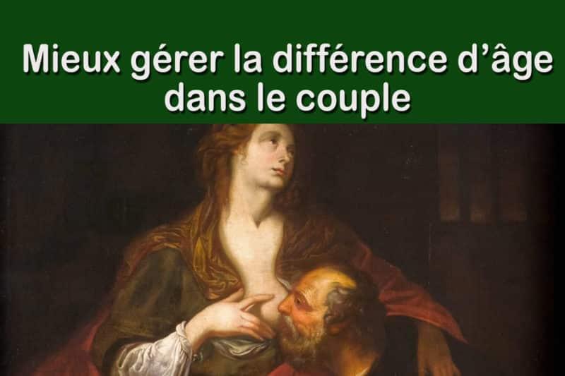Différence d'âge dans le couple, mieux la gérer