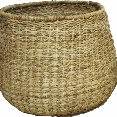 HOB2039 L Set 2 Banana bambu basket in natural