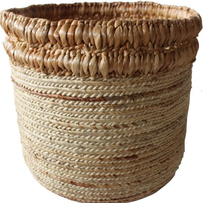 HOB2153 Banana water hyacinth basket in nat