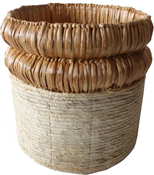 HOB2154 Banana water hyacinth basket in nat