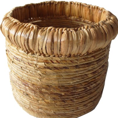HOB2156 Banana Water hyacinth basket in nat
