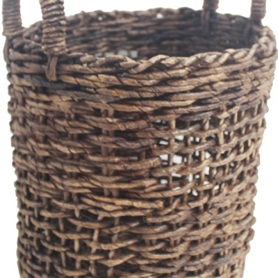 Banana round basket in fandik brown