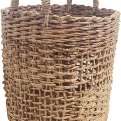 HOB2174 Banana round basket in natural