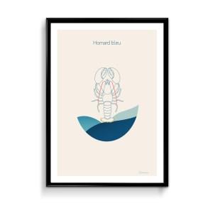Affiche homard bleu quimper brest