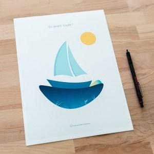 Tirage d'art - A4 bateau