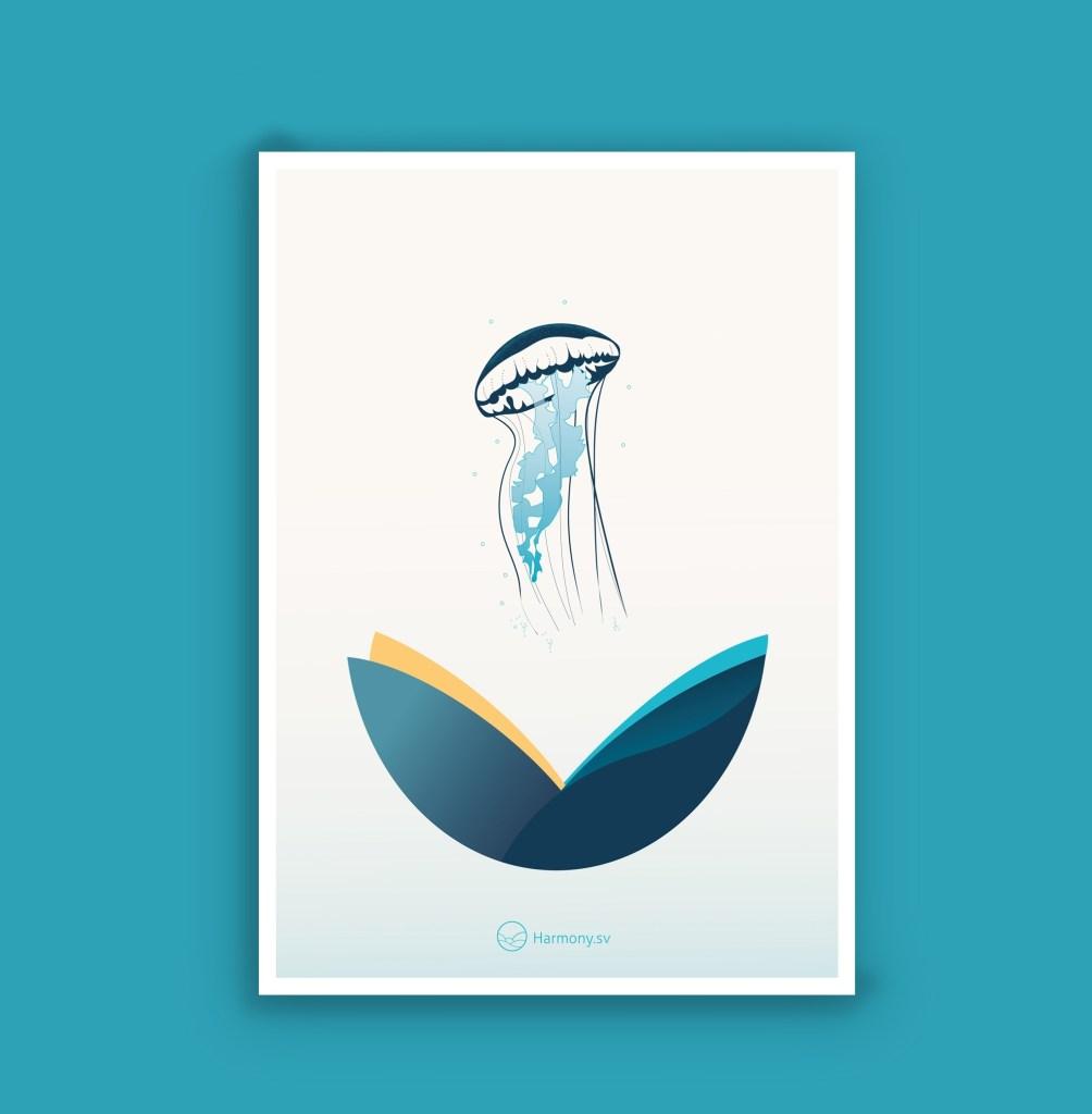 Affiche illustrée A4 - La Méduse