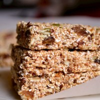 No Bake Amaranth Oat Granola Bars