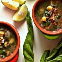 Lebanese Lentil & Chard Soup