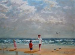 Boy-with-a-Crab-Oil-on-Canvas-Kris-Taylor-Art