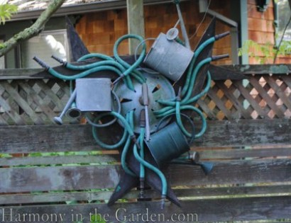 Hose and Watering can art