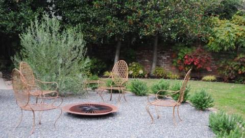 Goodbye Lawn, Hello Fire Pit-Mediterannean Style