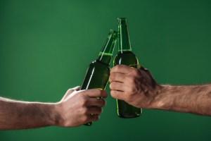 Beer Bottles Clinking Together