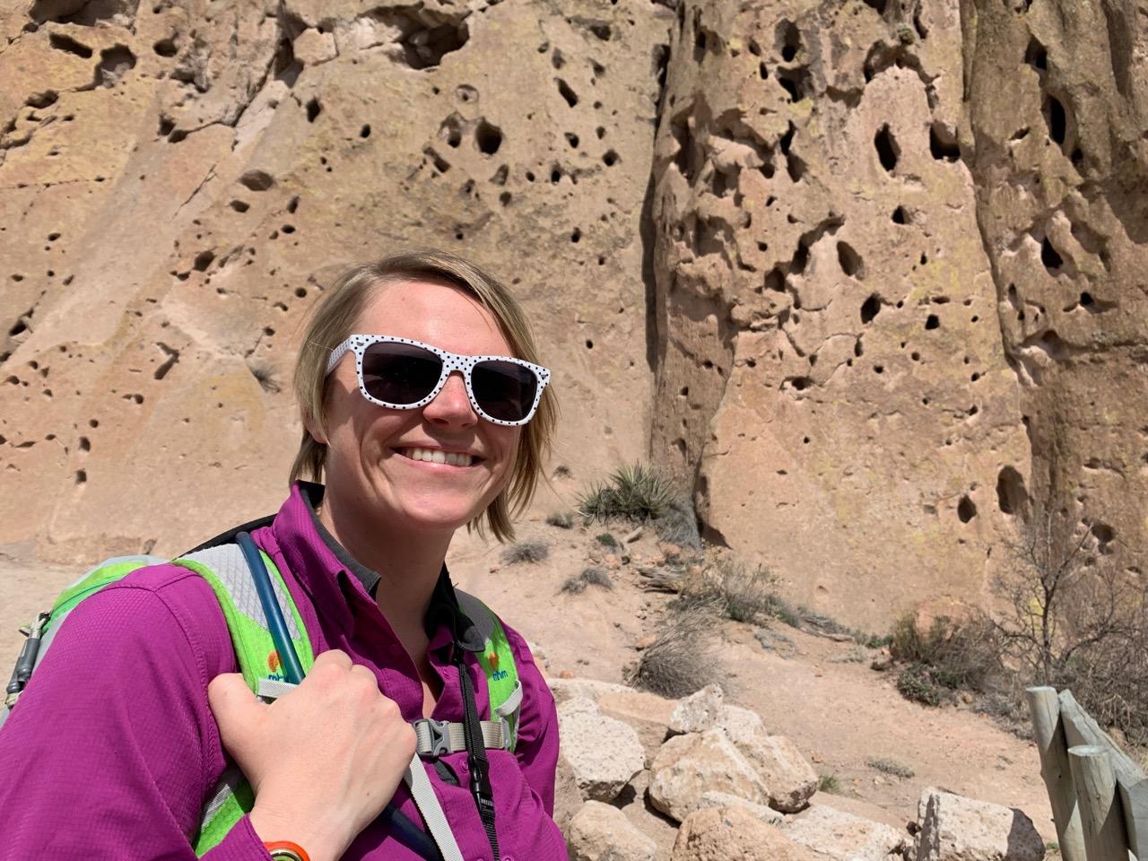 Danielle by the rocks on Frey Trail
