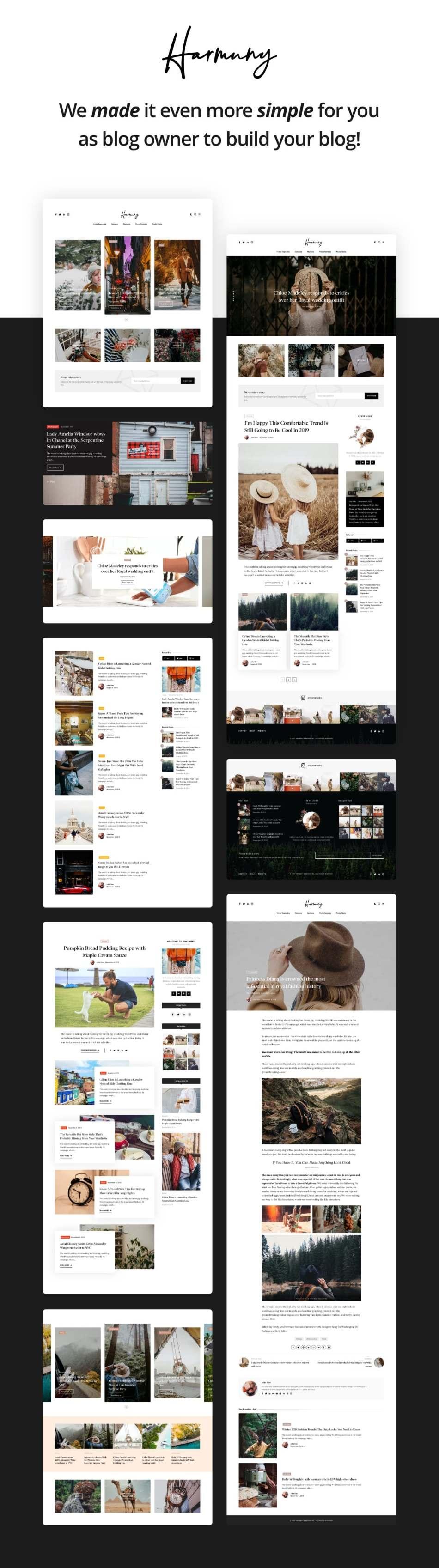 Harmuny - Modern WordPress Blog Theme - 1