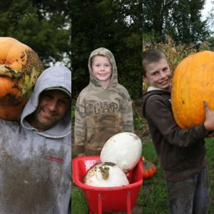 Pumpkins put a smile on everyone's face.