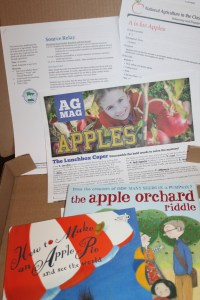 """We also have incorporated both of these books into lessons. """"How to Make a Apple Pie and See the World"""" provides a great opportunity to talk about geography. """"The Apple Orchard Riddle"""" is great in the classroom or for a Sunday school lesson. The Minnesota Agriculture in the Classroom and the American Farm Bureau Foundation have great resources to enhance both of these books."""