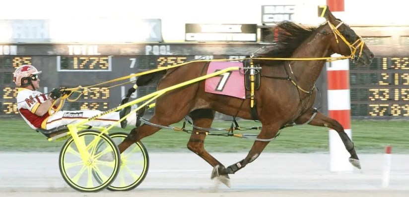 Before the eight $250,000 Ohio Sires Stakes championship races, Scott Rocks (Aaron Merriman) got the card rolling by setting a 1:49 Northfield Park track record.   Jeff Zamaiko
