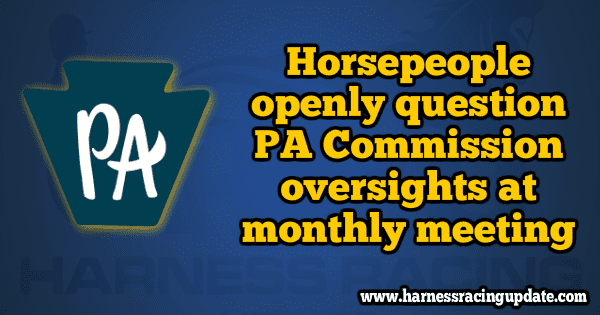"Horsepeople openly question PA Commission ""oversights"" at monthly meeting"