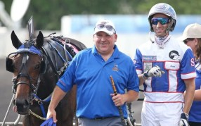 "Claus Andersen | Assistant trainer and caretaker Ernie Hendry (with driver Scott Zeron) is the one that started calling Atlanta a ""creature"" this winter."
