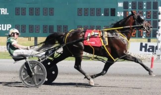 World Wide Race Photos | Foiled Again (with regular driver Yannick Gingras) winning his 100th career race in July at Harrah's Philadelphia.