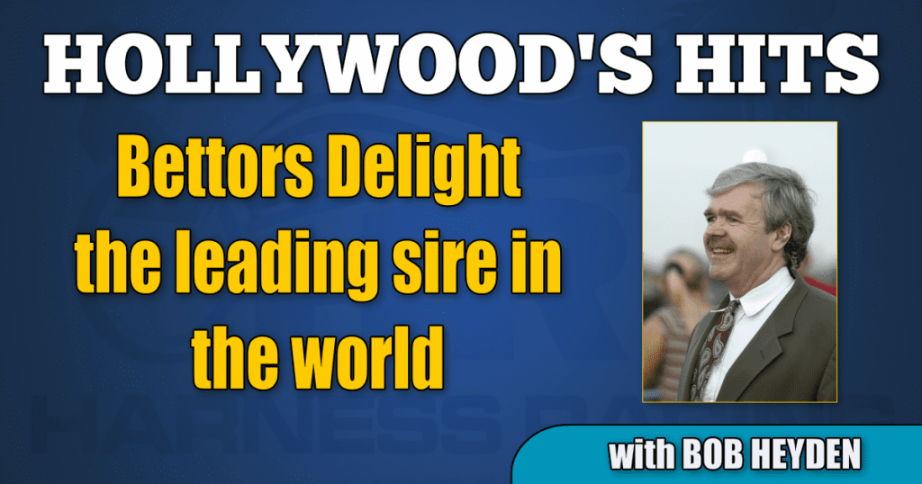 Bettors Delight the leading sire in the world
