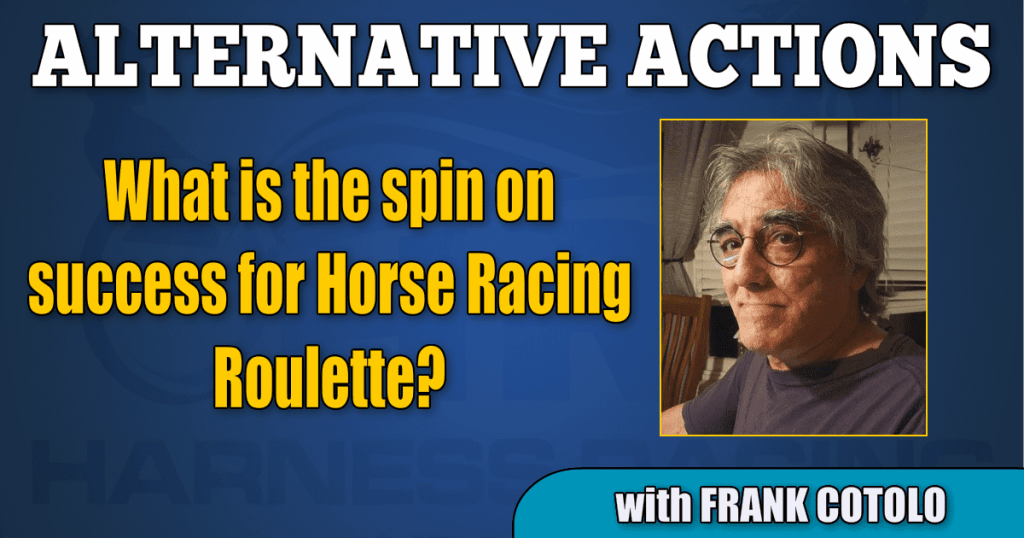 What is the spin on success for Horse Racing Roulette?