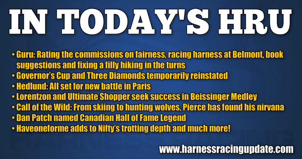 Guru opines on commissions, Belmont, books and a filly that hikes in the turns