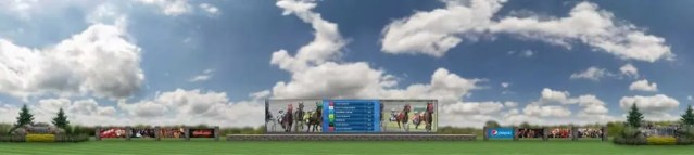 Courtesy Rideau Carleton | An artist's rendering of the new video tote board the Ottawa track hopes to install soon.