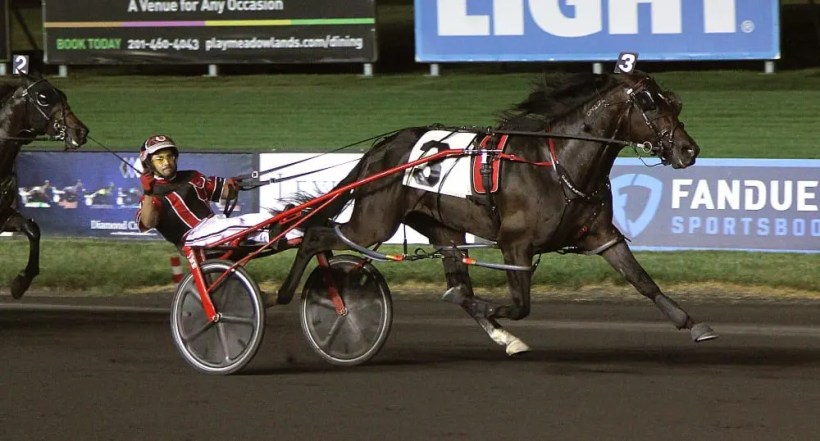 Michael Lisa | Lather Up's 1:46 performance is the fastest mile ever recorded by a standardbred at the Meadowlands.