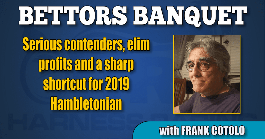 Serious contenders, elim profits and a sharp shortcut for 2019 Hambletonian